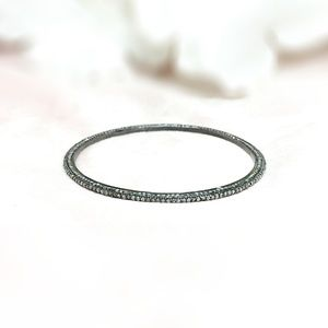 Jewelry - Diamond Oxidised Sterling Silver Bracelet